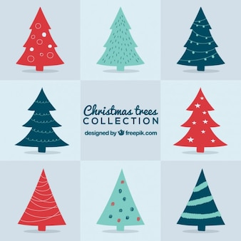 Cute collection of christmas trees