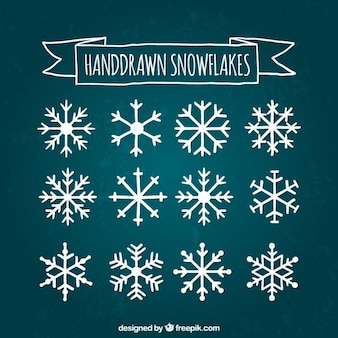Cute collection of snowflakes