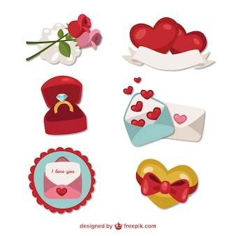 Cute collection of valentines day elements