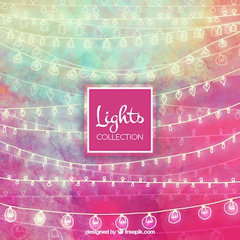 Cute collection of watercolor string lights