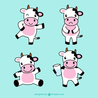 Cute cow illustrations