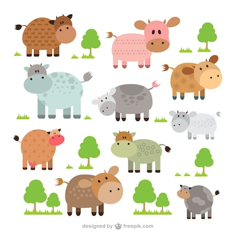 Cute cows collection
