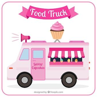 Cute cupcakes truck