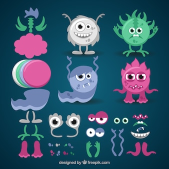 Cute customizable monster