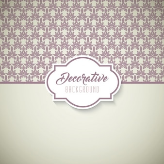 Cute decorative background with ornaments