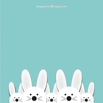Cute easter bunnies background