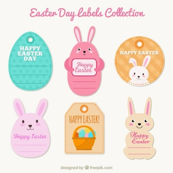 Cute Easter Day labels collection