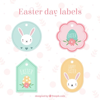 Cute Easter day labels