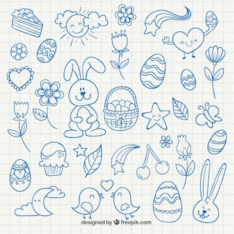 Cute easter drawings