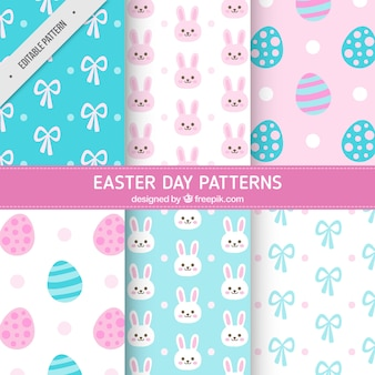 Cute easter patterns in pastel colors