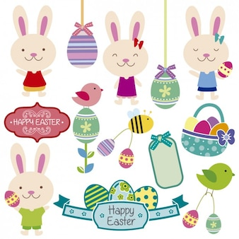 Cute easter rabbits