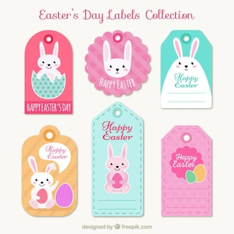 Cute easter's day label collection