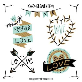 Cute elements of love design