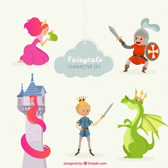 Cute fairy tale characters