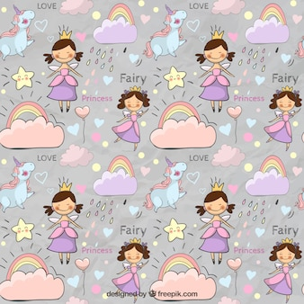 Cute fairytale pattern