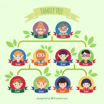 Cute family tree illustration