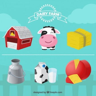 Cute farm elements
