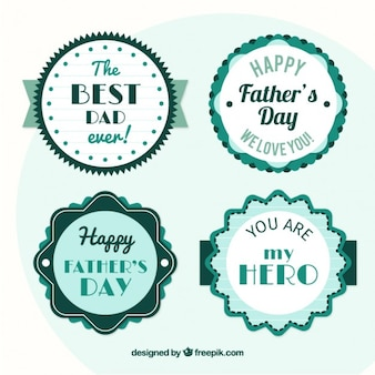 Cute father's day stickers pack