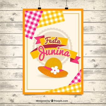 Cute festa junina party poster