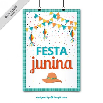 Cute festa junina poster