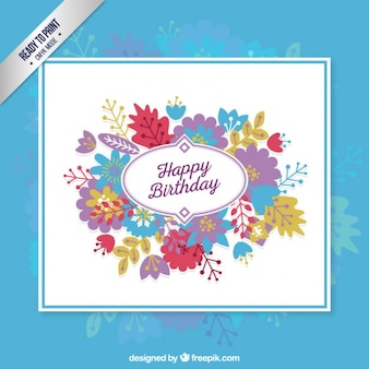 Cute floral birthday card