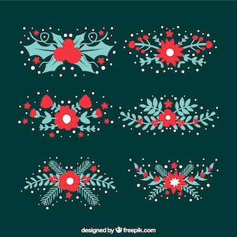 Cute floral christmas decoration
