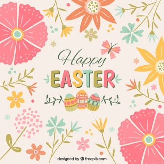 Cute floral Easter background