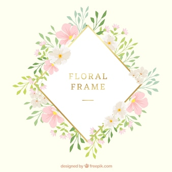 Cute floral frame with modern style