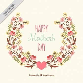 Cute floral mother's day background