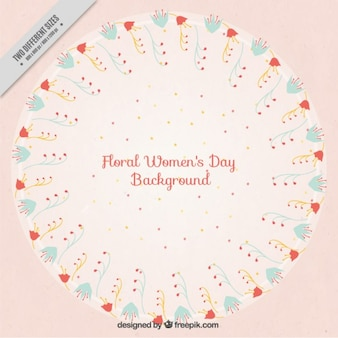 Cute floral ornaments women's day background