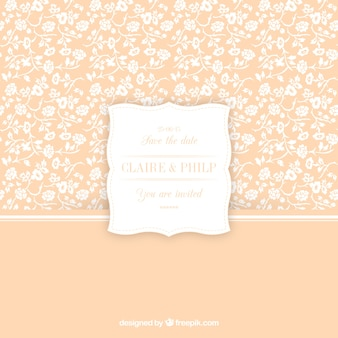Cute floral pattern for wedding invitation