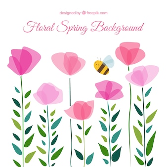 Cute floral spring background