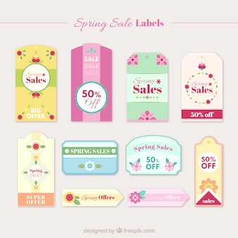Cute floral spring sale stickers