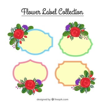 Cute flower label collection