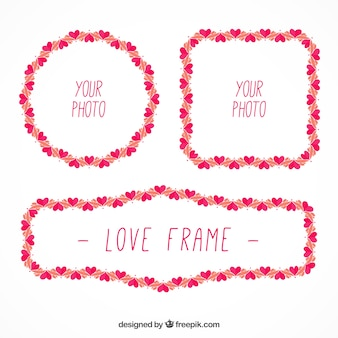 Cute frames with little hearts