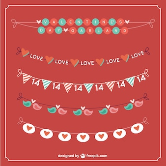 Cute garlands for valentine day