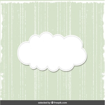 Cute green card with cloud