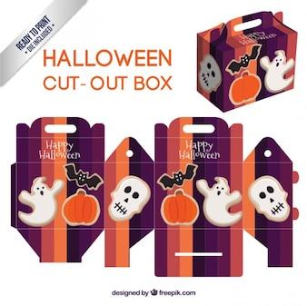 Cute halloween cut-out box