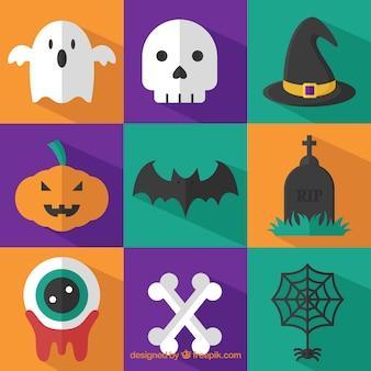 Cute halloween elements