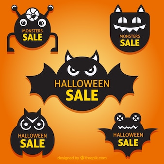 Cute halloween labels collection
