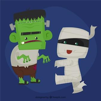Cute halloween monsters