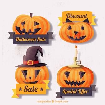 Cute halloween pumpkin stickers of deals