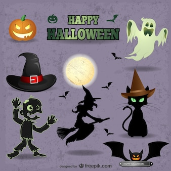 Cute Halloween vectors pack
