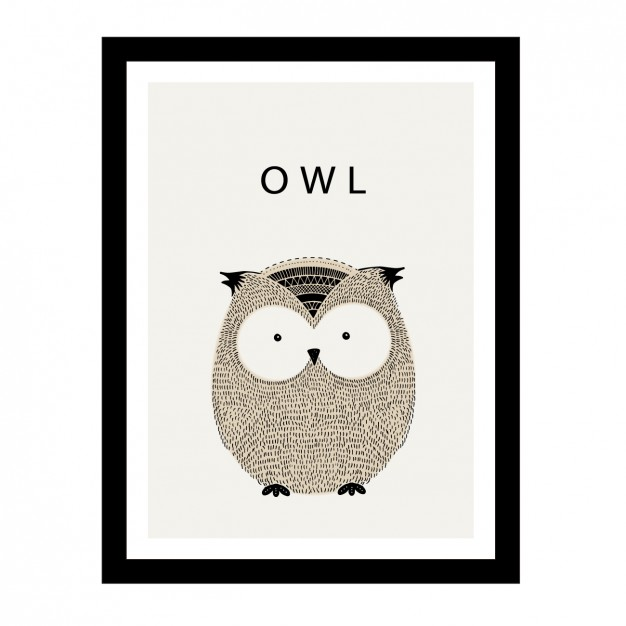Cute hand drawn owl design