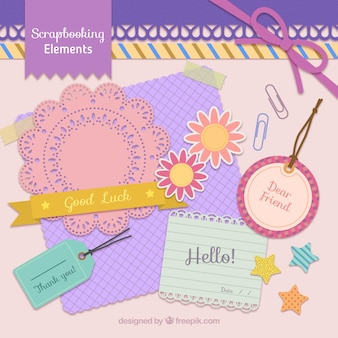 Cute hand drawn scrapbooking elements