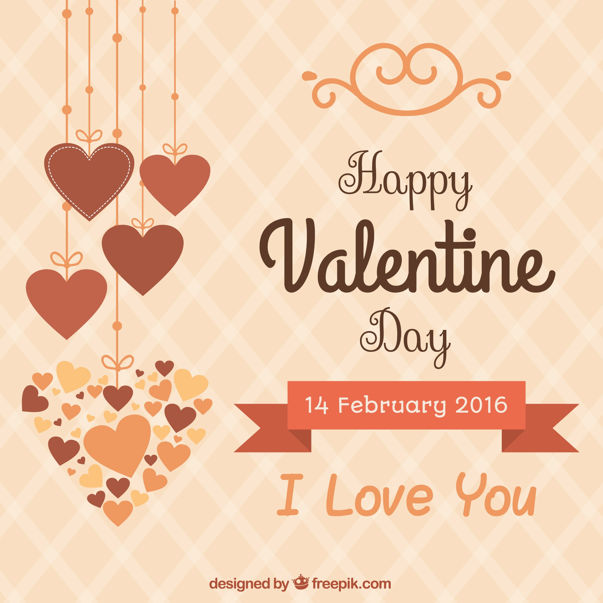 Cute happy valentine day background