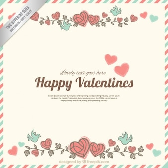 Cute happy valentine letter