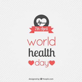 Cute health day dotted background