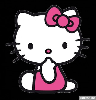 Cute Hello Kitty with bow