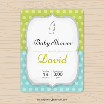 Cute invitation for a baby shower